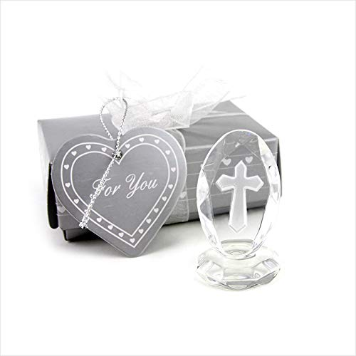 g Favors And Gifts Crystal Cross Standing Baby Christening Shower First Communion S2017381 - Balloons Cupcake Party Keepsakes Unicorn You Yellow Maternity Mints Guest ()