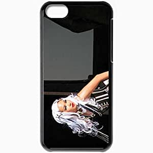 Personalized iPhone 5C Cell phone Case/Cover Skin Angelspit Haircut Image Scene Light Black