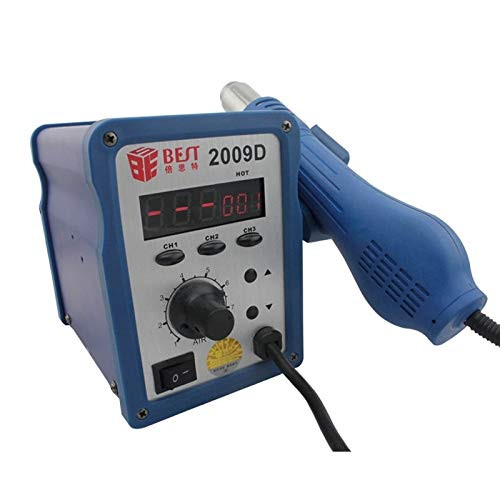 Toos Accessory BST-2009D AC 220V 50Hz 700W LED Displayer Adjustable Temperature Unleaded Hot Air Gun with Helical Wind, EU Plug Hand Tools (SKU : S-ETP-0246L) by MEIHE-Tools Accessory (Image #1)