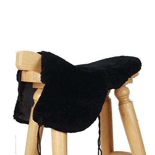 Purpose Saddle Cover - Golden Mall Genuine Merino Sheepskin Full Western Saddle Seat Saver(black, without cover)