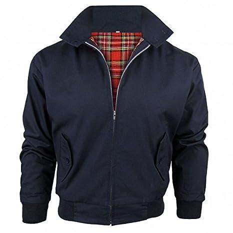 Relco Mens Harrington Jacket with Tartan Lining