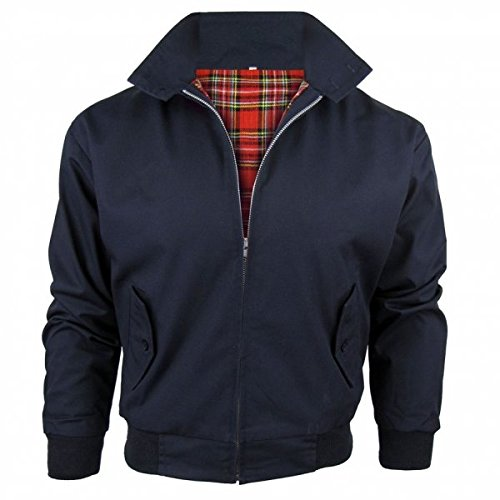 Relco Mens Harrington Jacket with Tartan Lining
