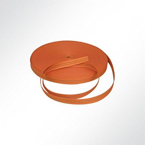 LYSEL Gurtband Polyester (PES), 35 mm breit, 2 mm stark, 3200 Kg, orange, (L) 20m