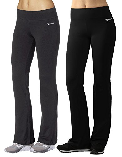 BAOMOSI Women's Active Boot-Leg Yoga Pants Workout Gym Fitness Activewear