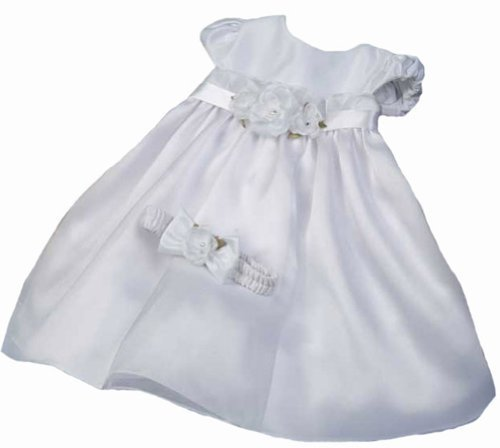 KID Collection Baby-Girls Flower Princess Dress 6M Sm White (Kid B776) ()