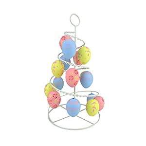 """14.25"""" Pastel Pink, Blue and Yellow Floral Cut-Out Spring Easter Egg Tree"""
