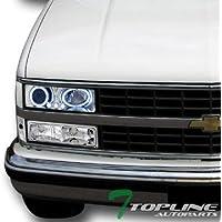 Topline Autopart Chrome Led Halo Projector...