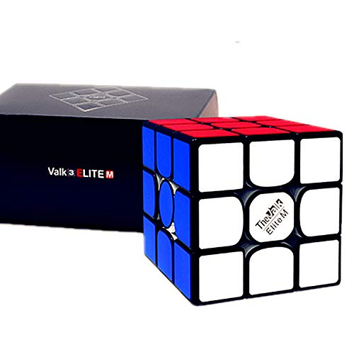 LiangCuber Qiyi Valk 3 Elite M 3x3 Manetic Speed Cube Qiyi MoFangGe Valk3 Elite Magnetic 3x3x3 Magic Cube Black (2019 VALK Flagship)