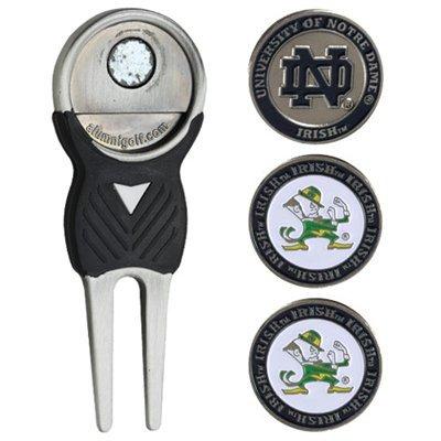 Notre Dame University Golf arreglapiques W/Tres Bola de doble cara
