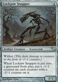 Magic: the Gathering - Lockjaw Snapper - Shadowmoor (Artifact Creature Scarecrow)