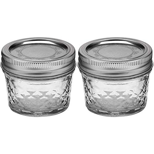 Ball Quilted Crystal Jelly Jars with Lids and Bands, 4-Ounce, Clear - Crystal Quilted Jelly Ball