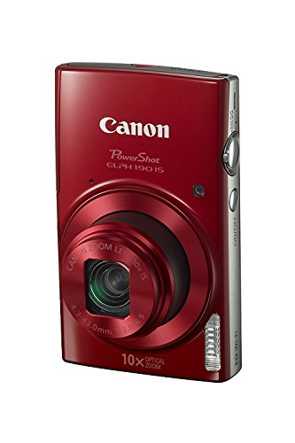 Canon PowerShot ELPH 190 Digital Camera w/ 10x Optical Zoom and Image Stabilization – Wi-Fi & NFC Enabled (Red)