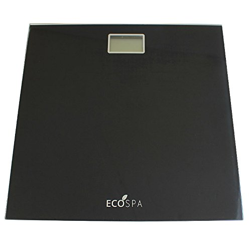 Electronic Digital LCD Body Weighing Bathroom Scales | Black Velvet | MAX 150KG | UNITS KG LBS ST | EcoSpa®