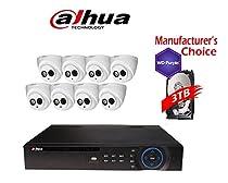 Dahua Branded 16CH Tribrid 1080P DVR Package: HCVR7416 w/3TB HDD + (8) 2MP HDW12A0EN IR 3.6MM Eyeball