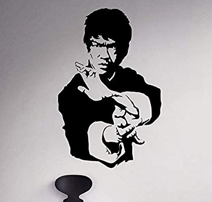 Kung Fu Star Bruce Lee High Quality Vinyl Stickers Wall