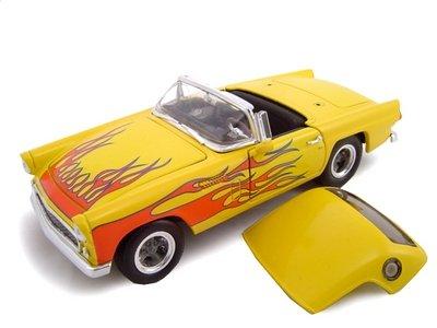 1956 Ford Thunderbird Street Rod Yellow/Flames 1/24