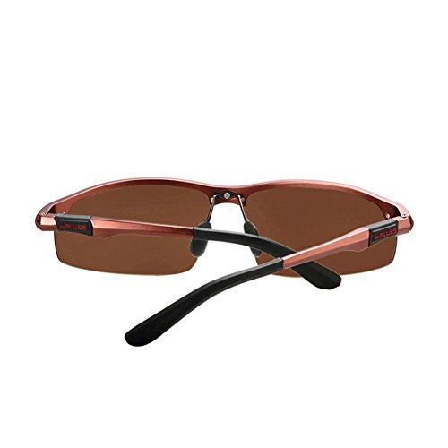 de para de Hombre Sol Sol Gafas Gafas de magnesio Espejo TD Aluminio Conductor Conducción de Color 4 de polarizadas DT wzfavqxB