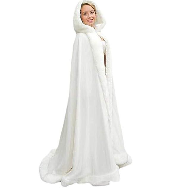 Meibida Giacca Invernale da Donna Caldo Cappotto Caldo Giacca da Sposa  Mantello Caldo Giacca (Avorio)  Amazon.it  Abbigliamento 85bb13365e84