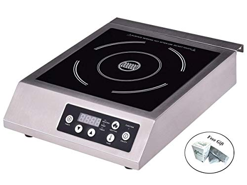 1800W Commercial Electric Induction Cooker Single Burner Cooktop Countertop Only by eight24hours + SPECIAL ()
