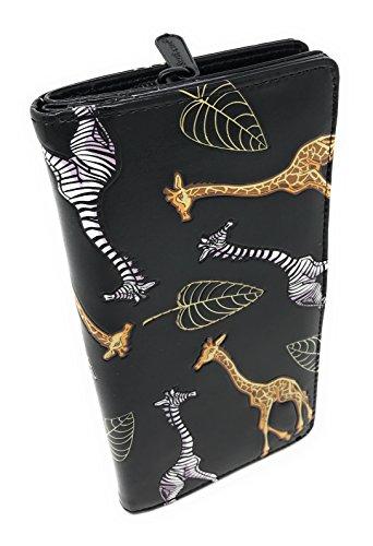 Shagwear Stripped Giraffe Wallet (Black Giraffe Wallet)