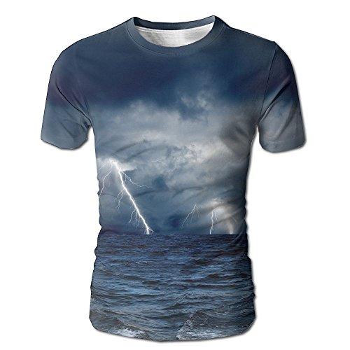 Storm Lightning Men's Short Sleeve Affordable Sport Sleeve Shirt Sleeve T-shirts