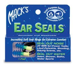 Macks Ear Seals Dual Purpose Earplugs 1 Pair (Pack of 3)