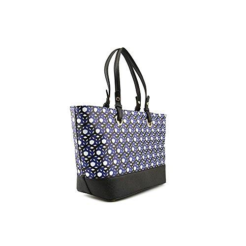 Calvin Klein Monogram Travel Tote HandbagBlack HoneycombOne Size