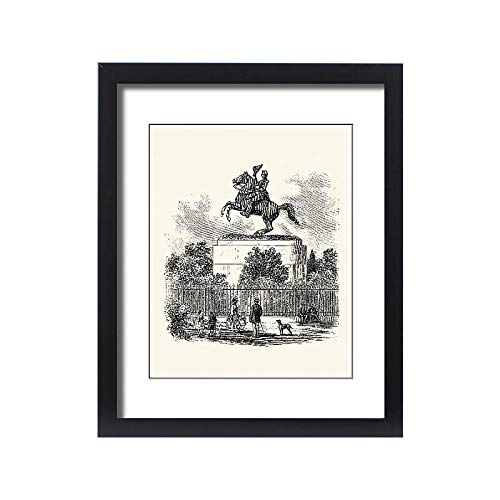 Jackson Square Statue - Media Storehouse Framed 20x16 Print of Statue of Andrew Jackson, in Jackson Square, New Orleans (14617256)