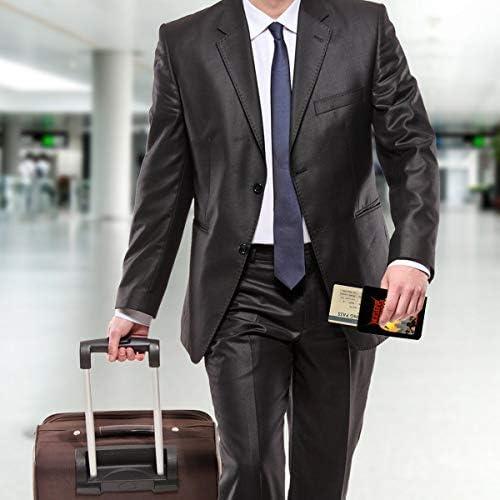 NUCLEAR ASSAULT パスポートケース メンズ レディース パスポートカバー パスポートバッグ 携帯便利 シンプル ポーチ 5.5インチ PUレザー スキミング防止 安全な海外旅行用 小型 軽便