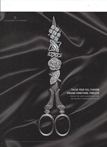 MAGAZINE AD For 2006 A Diamond Is Forever Diamond Ring Scissors Scene