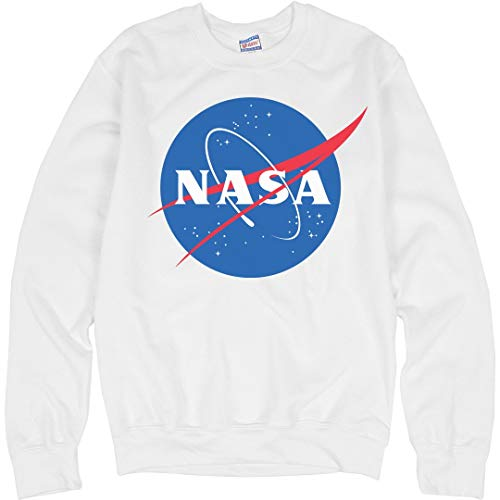 - Customized Girl NASA Logo Sweater: Unisex Ultimate Crewneck Sweatshirt White