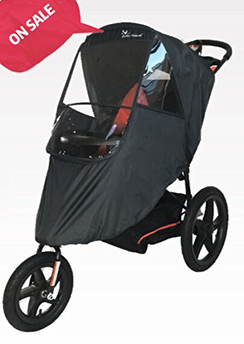 Esther Natural Stroller Weather Shield Made Of Water-proof With Zipper And Optical Window On Three Sides Screen With Free and Quick Shipping (Dark Grey) by Esther Natural