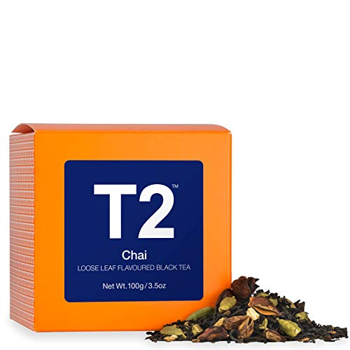 T2 Tea Chai Tea, Loose Leaf Black Tea, 100g (3.5 Ounce)