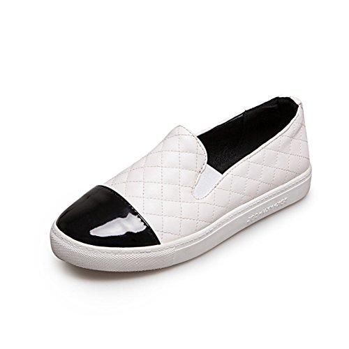 estudiante Lazy Plano Zapatos Calzado zapatos manera casuales profunda B zapatos del wqtazpt