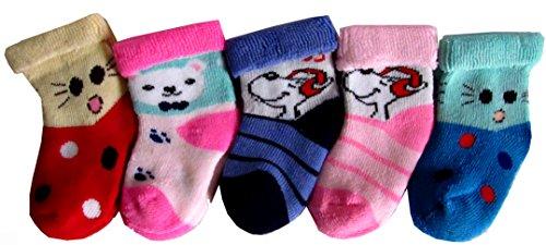 Cotton New born kids socks pack of 5 (soft socks)