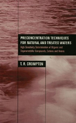 Preconcentration Techniques for Natural and Treated Waters: High Sensitivity Determination of Organic and Organometallic Compounds, Cations and Anions
