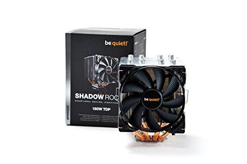 be quiet! BK013 Shadow Rock 2 CPU-Kühler LGA 775 /1150 /1155 /1156 /1366 /2011/AMD 754 /939 /940 /AM2+ /AM3+ /FM1 /FM2 (4-polig)