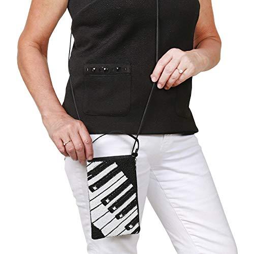 Bamboo Trading Purse Crossbody Company Bag Instrument Beaded Piano Sequin Musical qgBq1fdrc