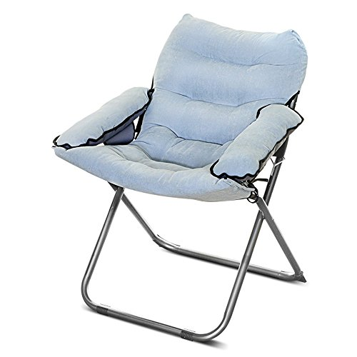 Folding chairs / Lunch break Napping chairs / Office balcony Folding chair / dormitory Home single chair / lazy Computer chair / pregnant chair / folding Home folding chair / ( Color : I ) by Folding Chair