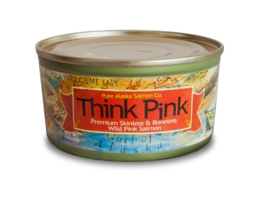Think Pink Wild Pink Salmon FILLETS (12) 6 oz cans