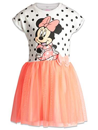 Pink And White Polka Dot Toddler Dress (Disney Toddler Girls' Minnie Mouse Tulle Polka Dot Dress, White/Coral)