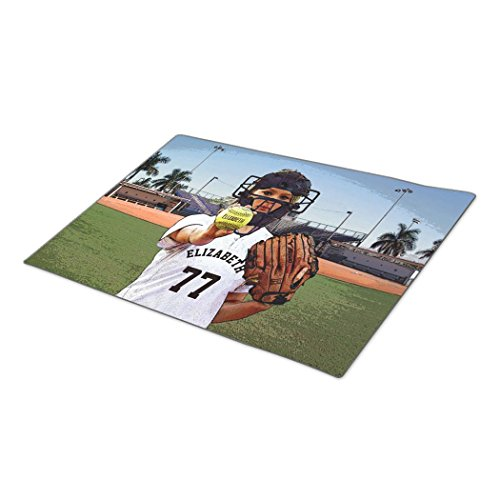 bellous Decorative Door Mats Softball Player Catcher With Your Name And Number Doormat (Sliding Mat Softball compare prices)