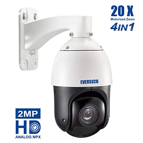 2MP AHD PTZ Security Camera 20X Optical Zoom HD 1080p 4-in-1 TVI/AHD/CVI/CVBS Video Surveillance Dome Camera - Waterproof, Night Vision, Medium Speed, Coaxial System (20X HD Analog PTZ Dome) ()