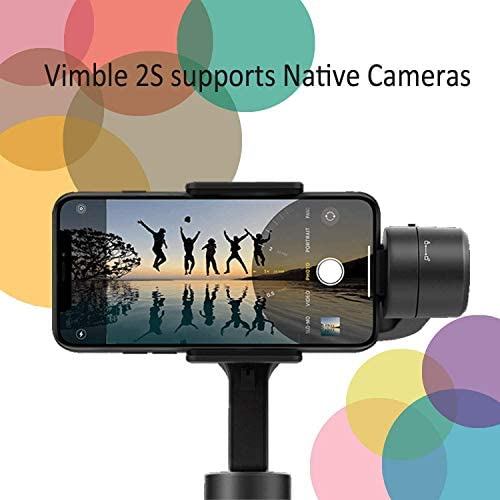 3-Axis Gimbal Stabilizer for iPhone 11 Xs Max XR X 8 7Plus 6 Smartphone Vlog Youtuber Samsung Galaxy Note10/10+ S10+ S9 POV Hitchcock Panorama Face Object Tracking Timelapse FeiyuTech Vimble 2S 41v68mpyG9L