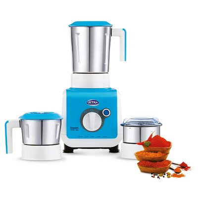 Ultra Stealth 750-Watt 3 Jar Mixer Grinder, 110 Volts Medium Blue