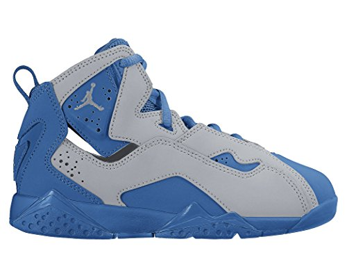 Jordan True Flight Wolf Grey/White-Blue Spark (Little Kid) (11 B(M) US) by NIKE