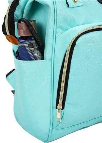 Level25 Gran capacidad Incluye dos correas para colgar en carrito Mochila de Pa/ñales con Bolsillos T/érmicos para Biberones M/últiples bolsillos interiores Azul