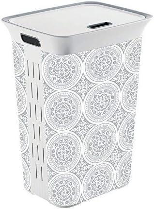 Amazon Com Kis White Plastic Clothes Hamper Case Of 4 Each Pack Qty 1 Home Improvement