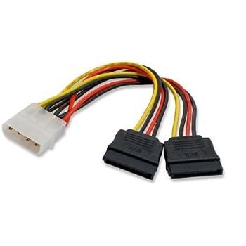 5x Molex 4Pin to 4 x Serial ATA SATA 2 II SATA2 15Pin HDD Hard Drive Power Cable