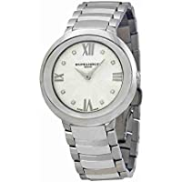 Baume & Mercier MOA10178 Women's Promesse Mother of Pearl Dial Watch (Silver Diamond Dial, Silver Band)